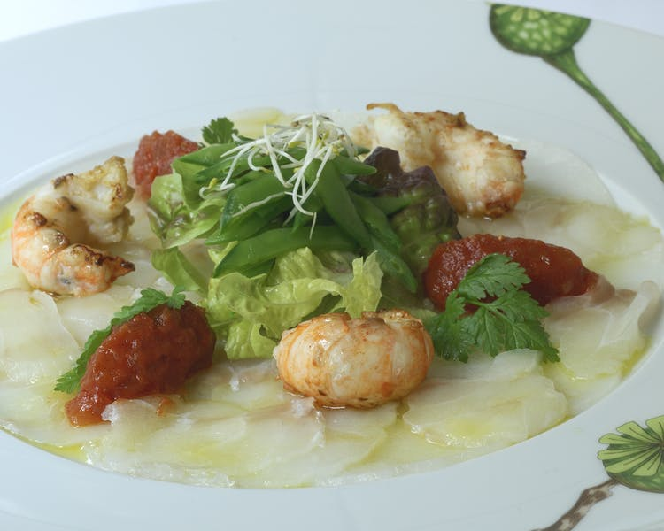 Scallop Carpaccio with Prawns Hotel-Restaurant Brimer Mullerthal