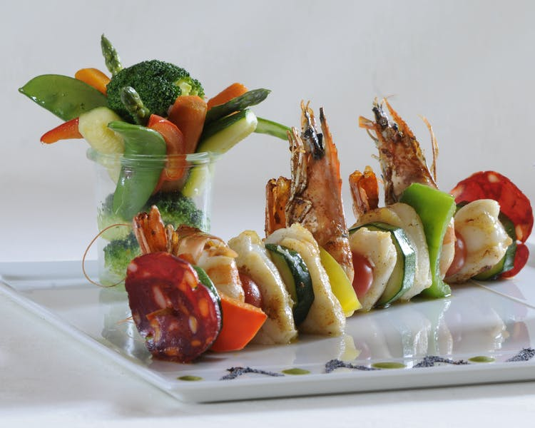 Surf and Turf Skewer Hotel-Restaurant Brimer Mullerthal