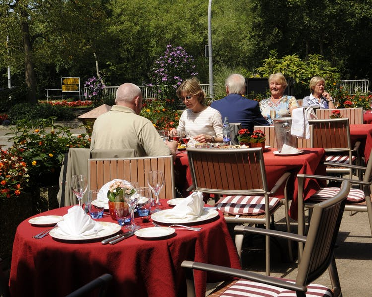 Enjoy Breakfast, Lunch and Dinner on the beautiful terrace Hotel-Restaurant Brimer Mullerthal