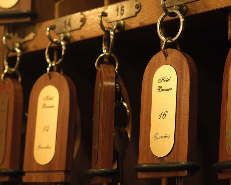 oldies but goldies, our rooms still have real keys Hotel-Restaurant Brimer Mullerthal