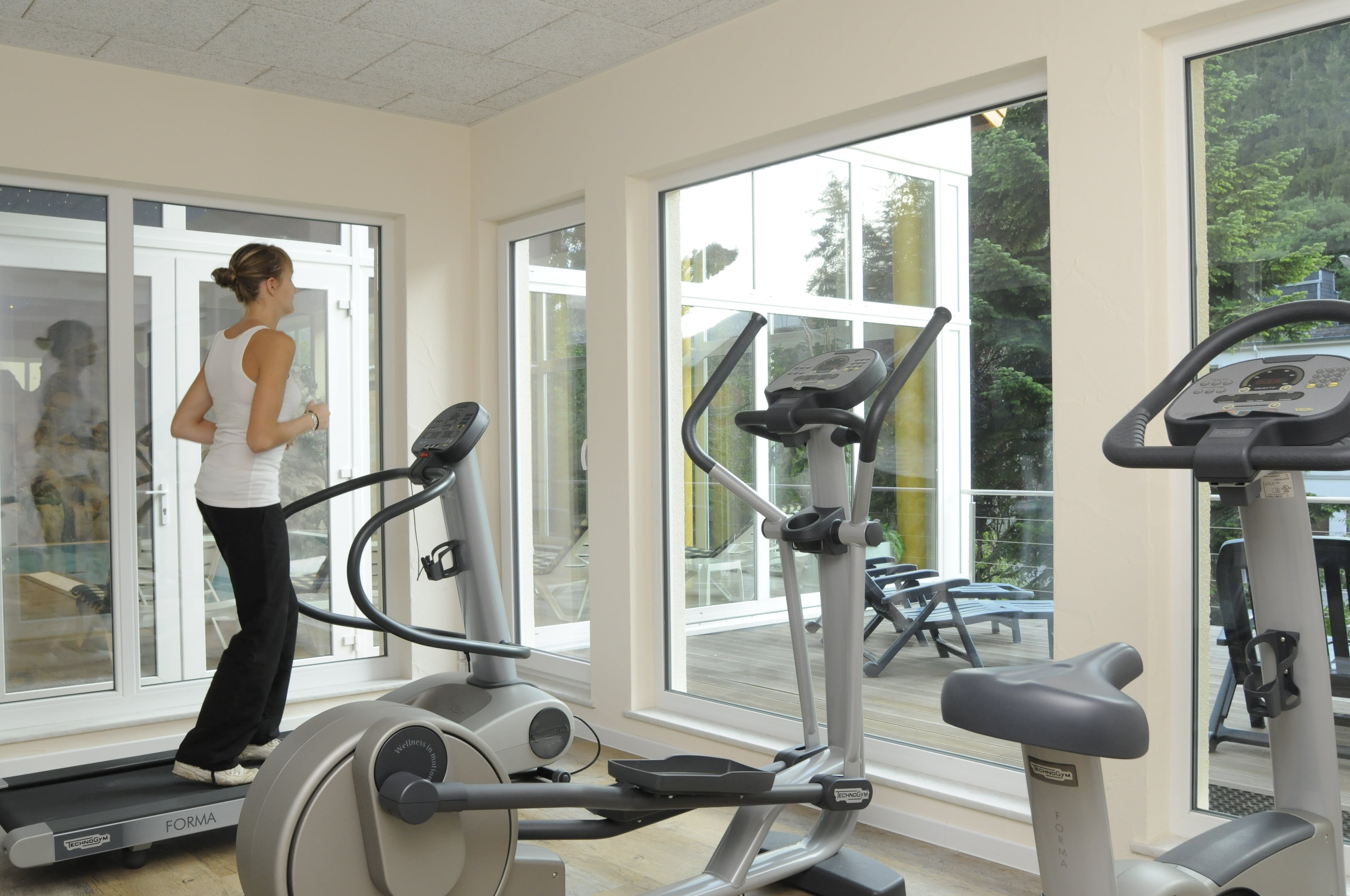 Gym with a view Hotel-Restaurant Brimer Mullerthal