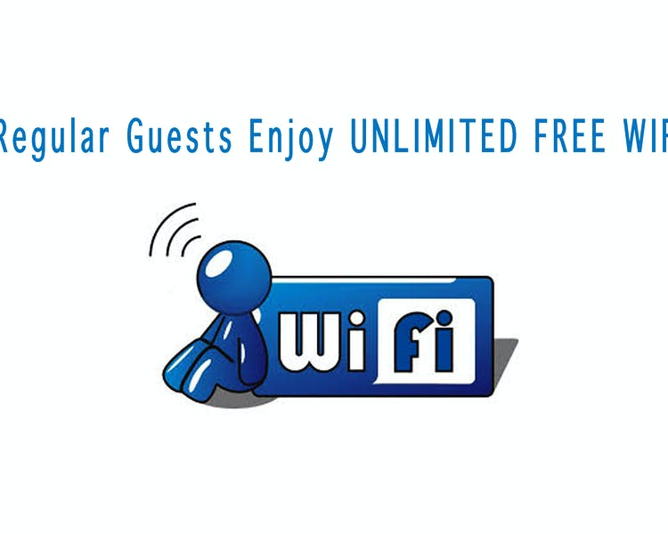 Unlimited wifi for regular guests