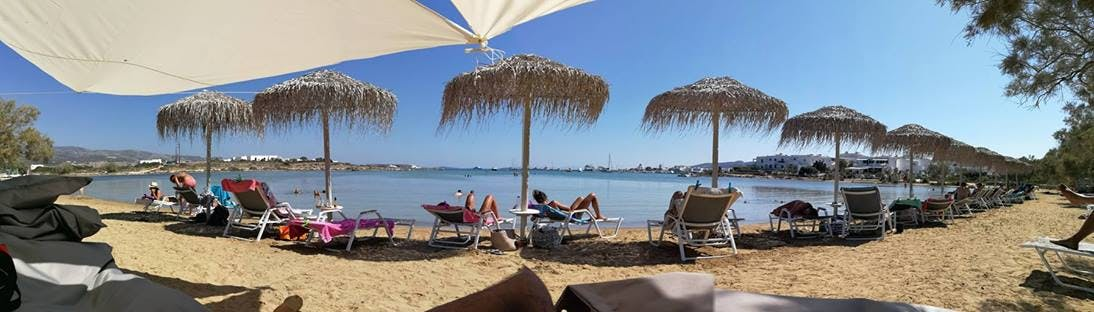 Antiparos lounge beach .A company of Antiparos luxury apartments