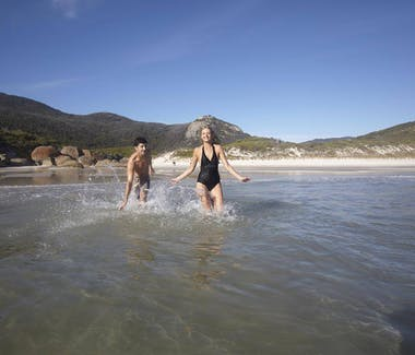 Playing at Wilsons Promontory