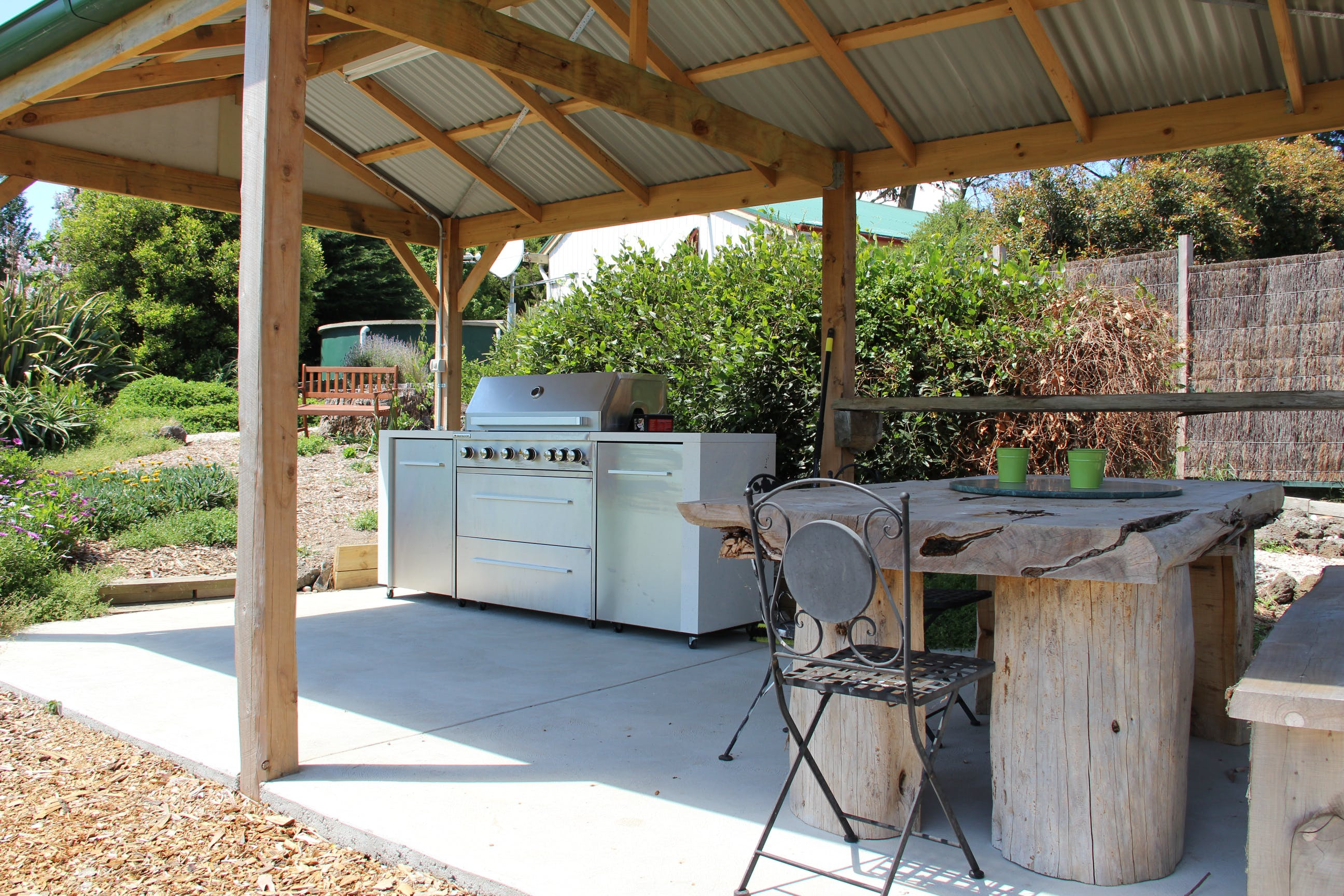 BBQ area at Loves Lane Cottages