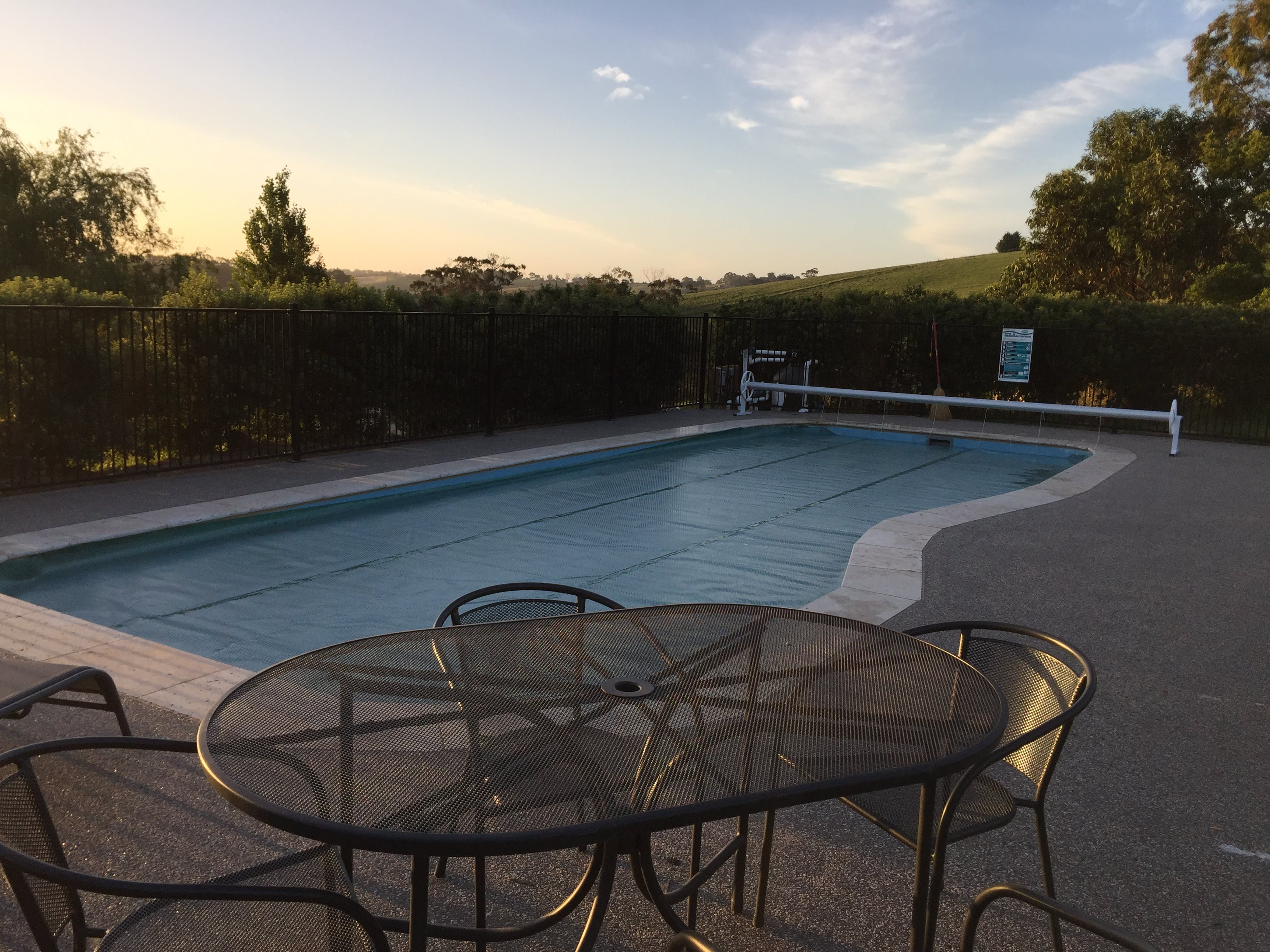 View of the pool at Loves Lane Cottages