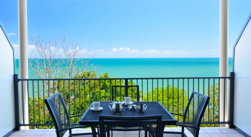 Enjoy your morning coffee overlooking the Coral Sea.
