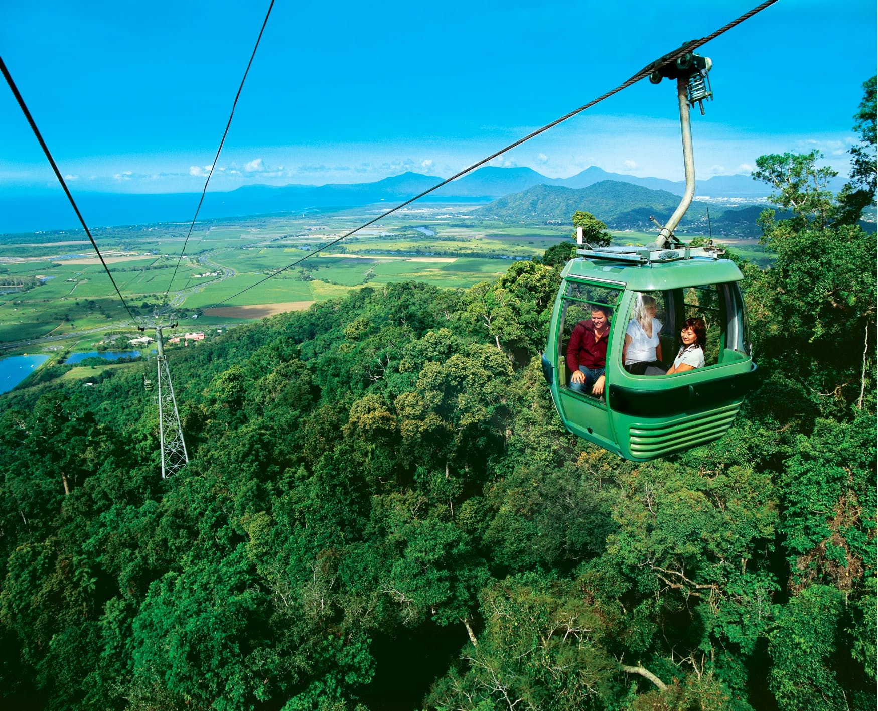 The Skyrail cablecar to Kuranda.