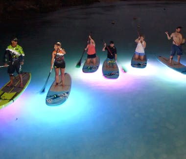 Night Paddle Boarding Muri Beach Muri Beachcomber