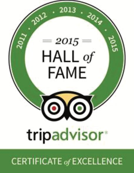 Tripadvisor Hall of fame Hotel Casa do Amarelindo