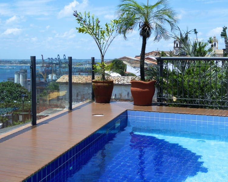 Hotel Casa do Amarelindo swimming-pool view over bay