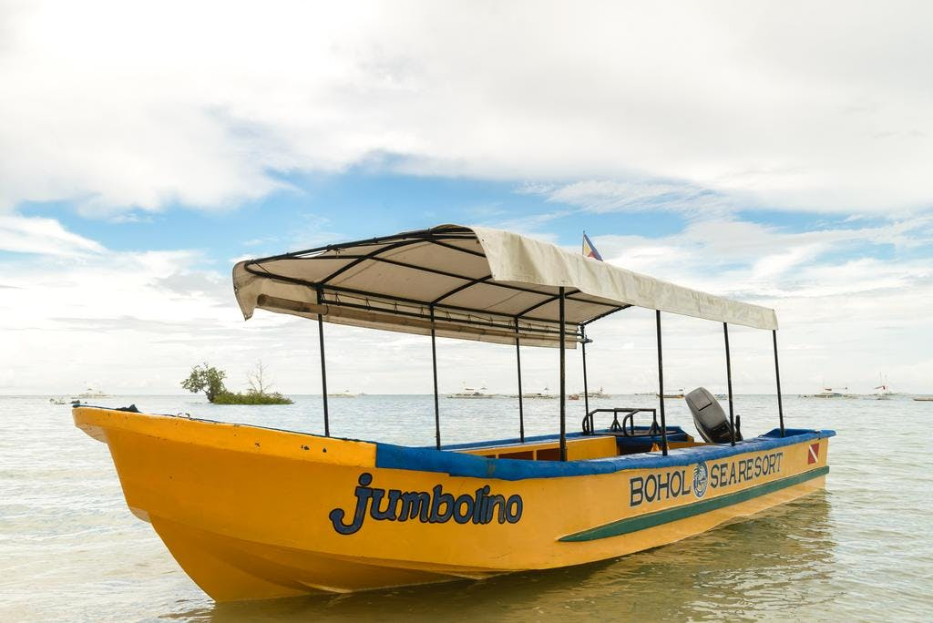 A boat that will be use for Diving, Snorkeling and other water activities