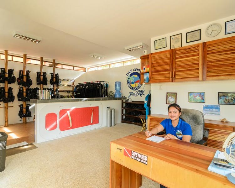 A view of the Dive Shop