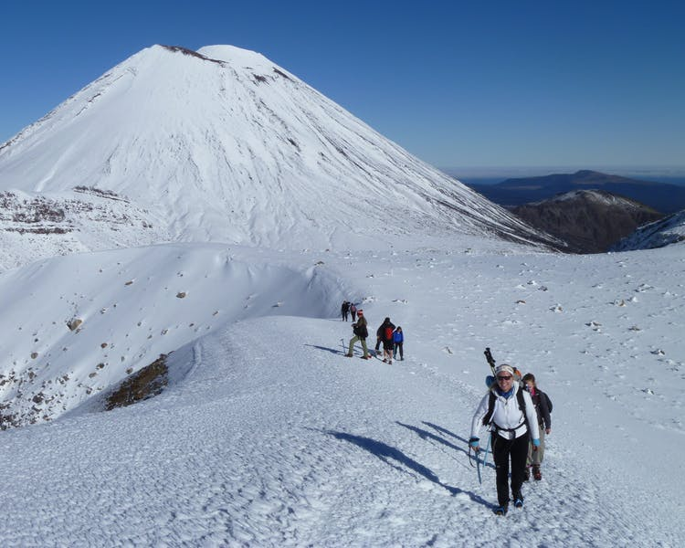 Mount Ngauruhoe on a Guided Winter Hike