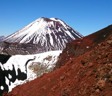 Beautiful Volcanic colours in the Tongariro National Park in Spring time