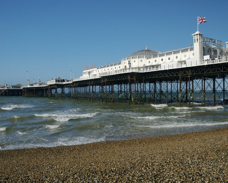 Brighton Pier is opposite to  the New Madeira Brighton