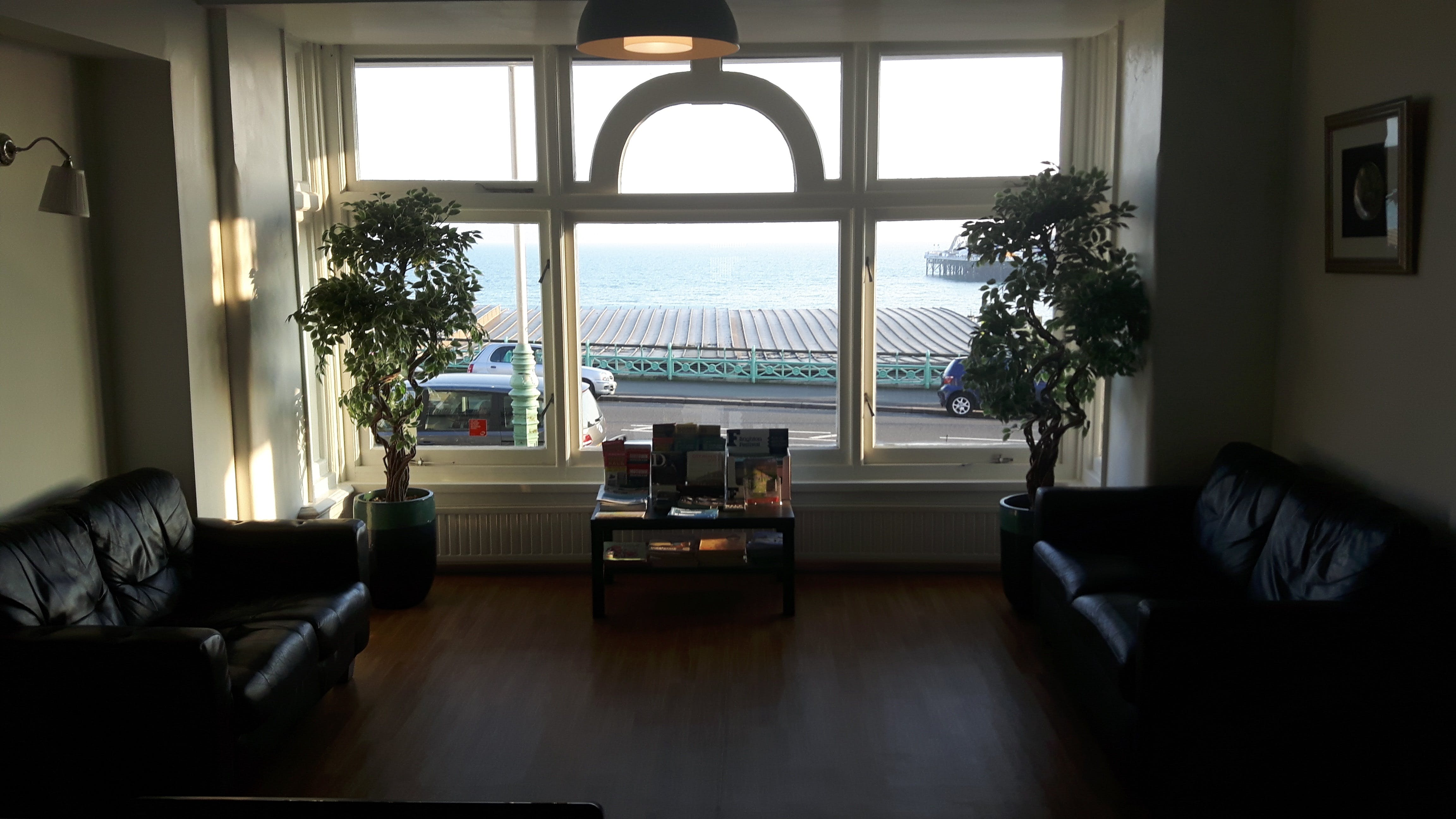 Reception area with sea view at New Madeira Brighton