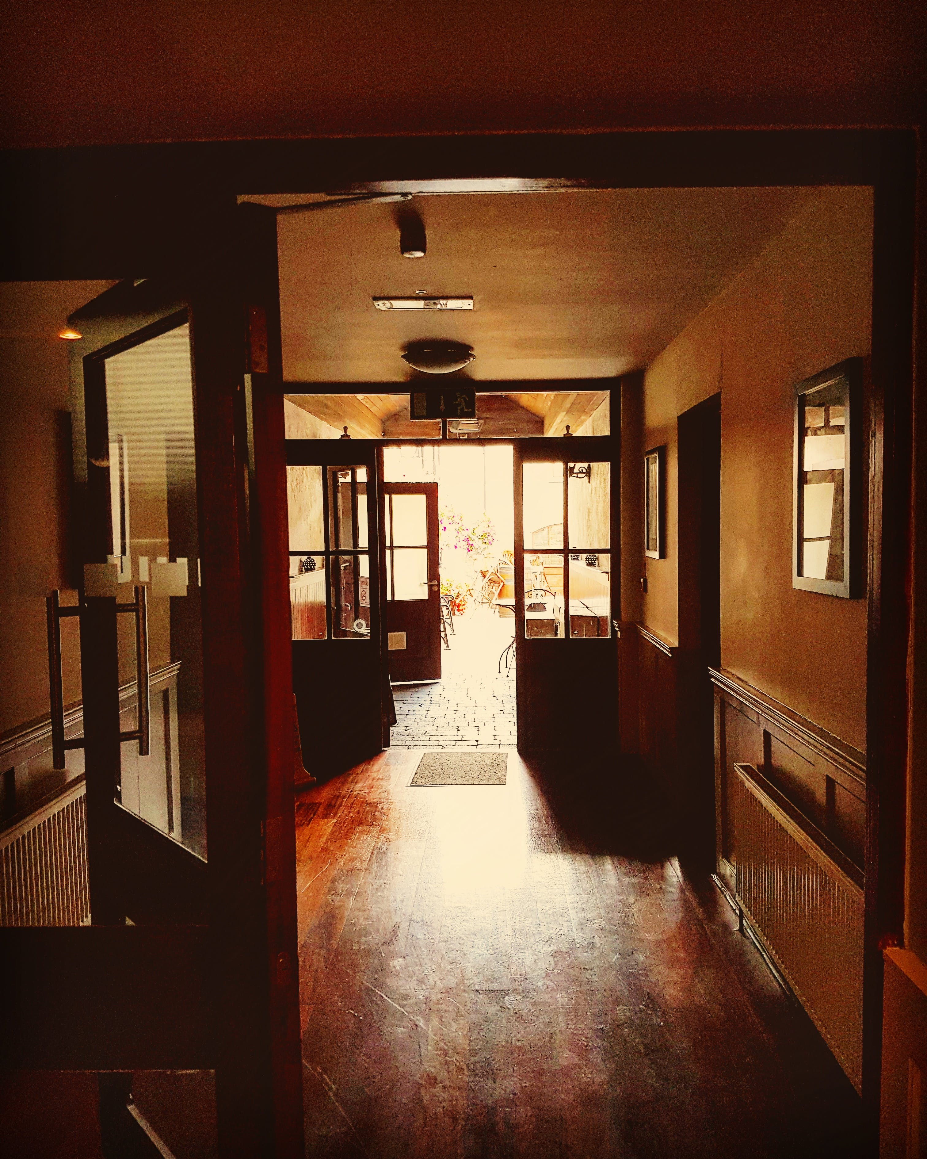 Hallway from reception to courtyard