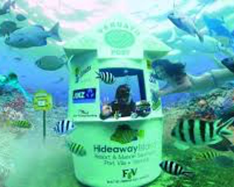 Things to do The Havannah, Vanuatu luxury resort for couples Hideaway Island underwater post office