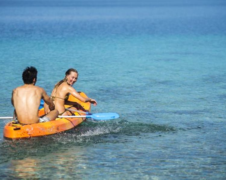 The Havannah, Vanuatu. Award winning Luxury resort  for couples,  romance, weddings and Honeymoon. Fun in sun kyacking