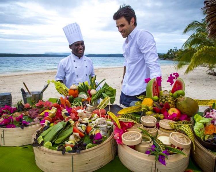 The Havannah, Vanuatu. Award winning Luxury resort  for couples,  romance, weddings and Honeymoon. Food