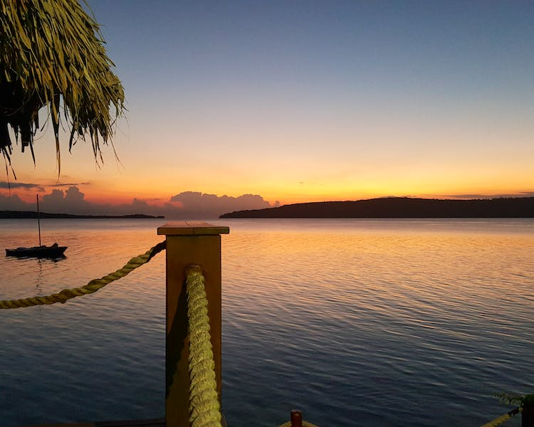 Waterfront Villa view The Havannah, Vanuatu. Award winning Luxury resort  for couples,  romance, weddings and Honeymoon.