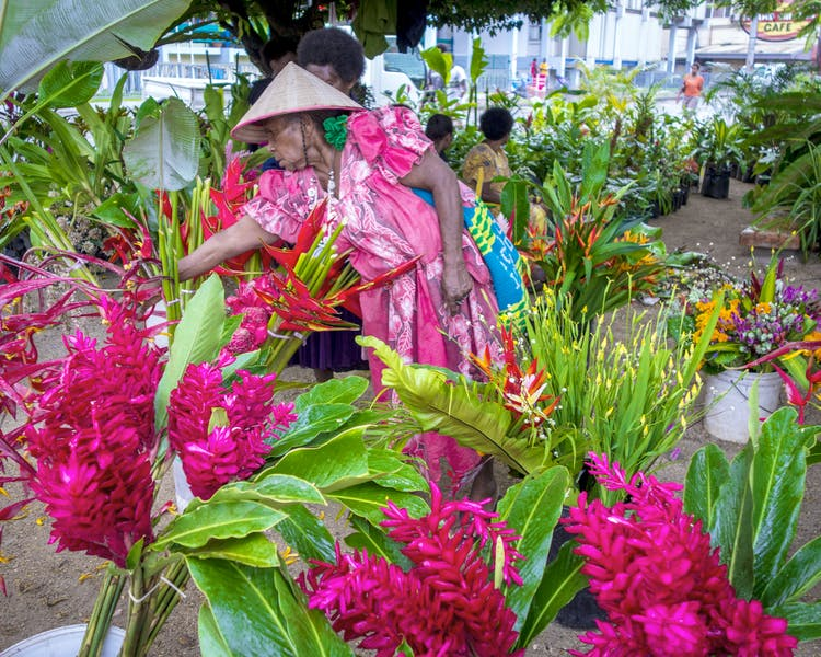 Flower market Port Vila