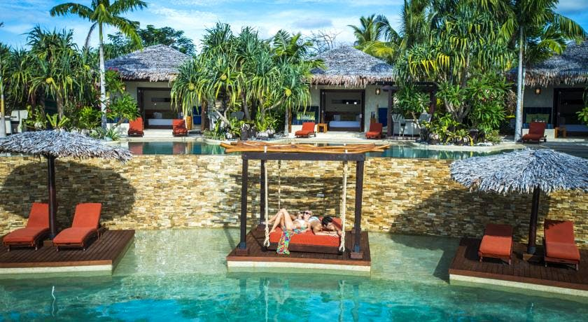 The Havannah, Vanuatu. Award winning Luxury resort  for couples. Main pool