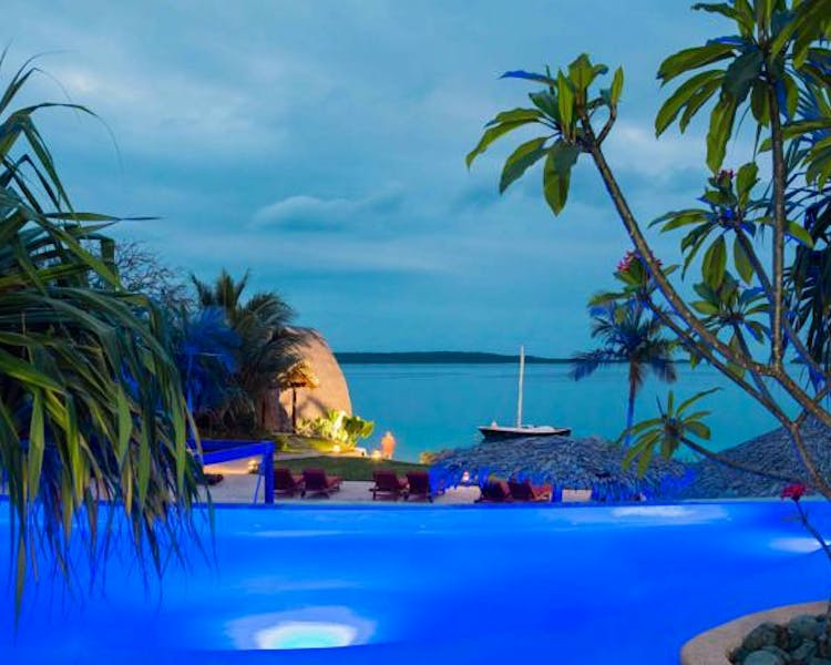 The Havannah, Vanuatu. Award winning Luxury resort  for couples. Lagoon pool Villa