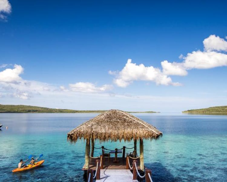 The Havannah, Vanuatu. Award winning Luxury resort  for couples,  romance, weddings and Honeymoon, Jetty