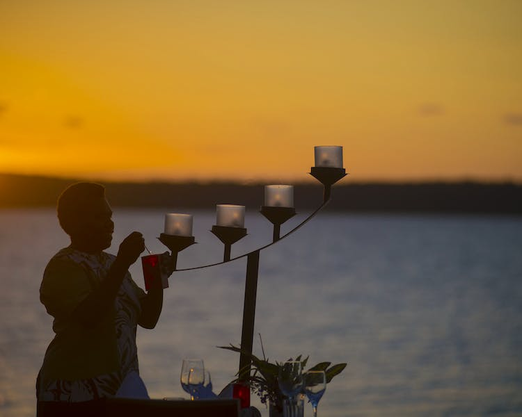 The Havannah, Vanuatu. Award winning Luxury resort  for couples,  romance, weddings and Honeymoon. Sunset