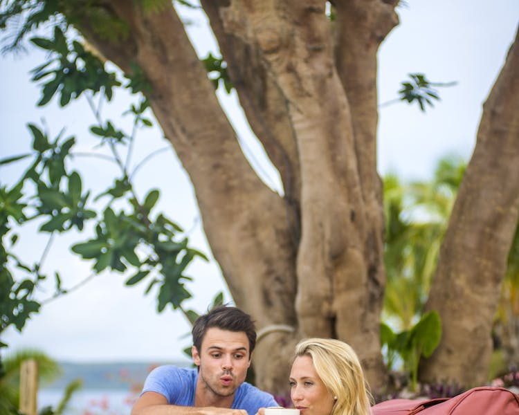 The Havannah, Vanuatu. Award winning Luxury resort  for couples,  romance, weddings and Honeymoon. Coffee under the trees