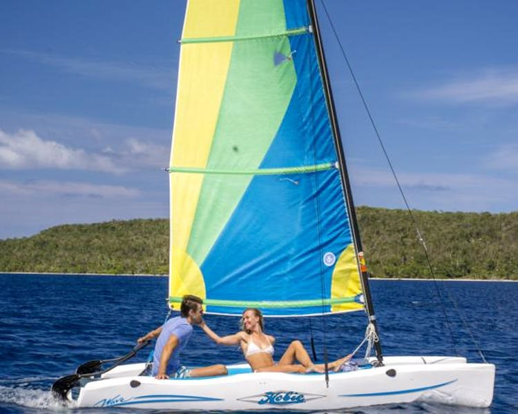 The Havannah, Vanuatu. Award winning Luxury resort  for couples,  romance, weddings and Honeymoon. Resort Catamaran