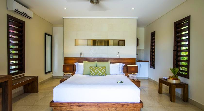 The Havannah, Vanuatu. Award winning Luxury resort  for couples. Lagoon pool Villa & Garden Villa interior