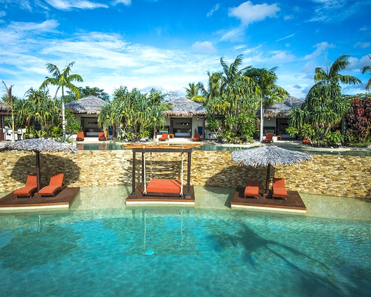 The Havannah, Vanuatu. Award winning Luxury resort  for couples,  romance, weddings and Honeymoon. main pool