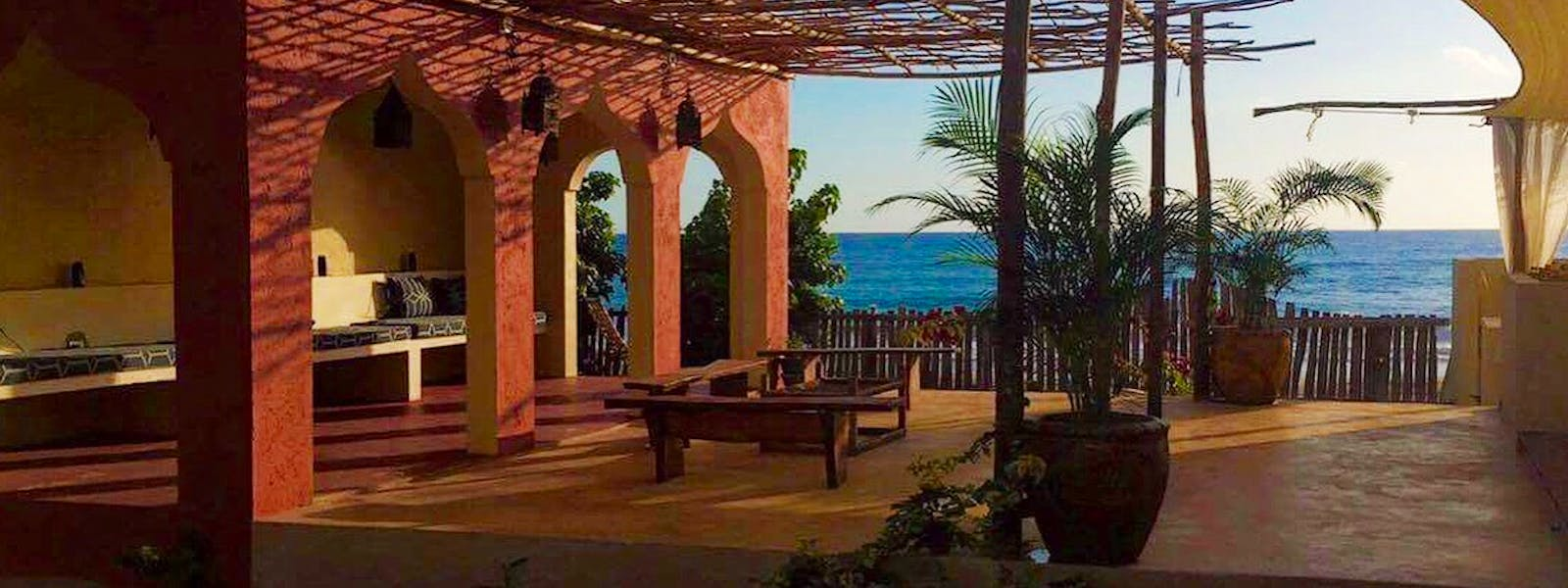 Katamah Jamaica Beachfront Guesthouse Ocean View Treasure Beach Moroccan Design