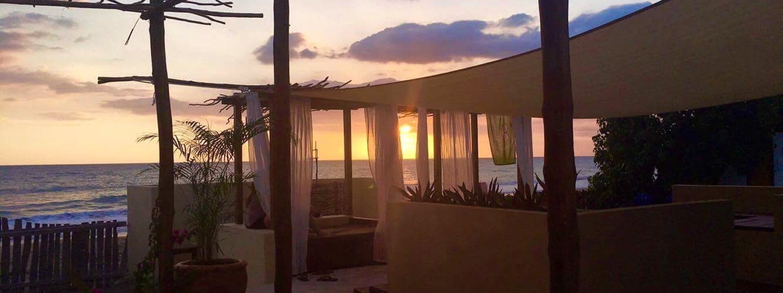 Katamah Jamaica Beachfront Guesthouse Ocean View Treasure Beach Sunset
