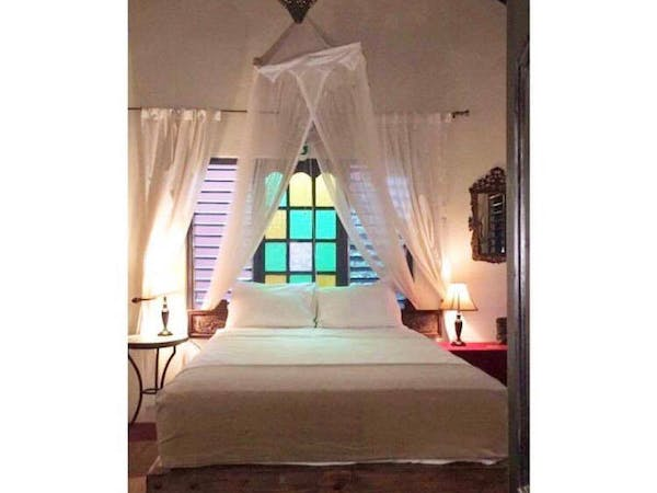 Bedroom Moroccan Villa  Room Katamah Jamaica Beachfront Guesthouse Ocean View Treasure Beach