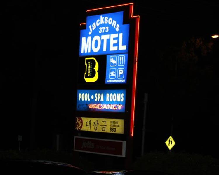 Sign at night