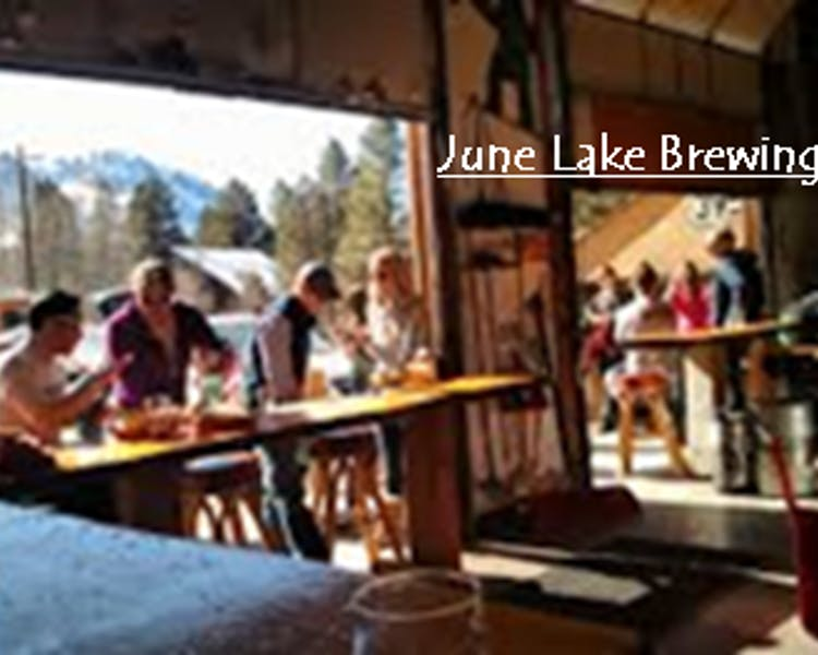 June Lake Brewing, 4 blocks from Lake Front Cabins.