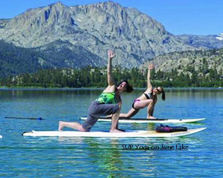 SUP Yoga on June Lake