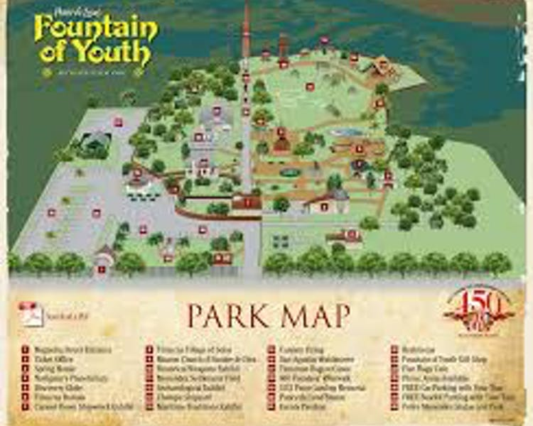 Fountain of Youth Park Map