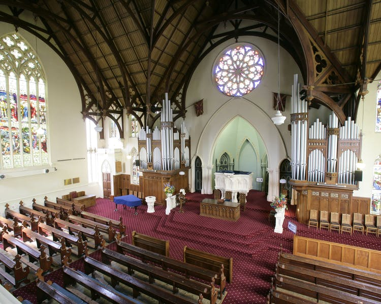 First Church of Otago interior