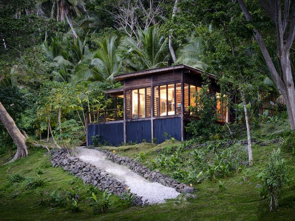 View of an Oceanfront Villa at The Remote Resort Fiji Islands. Designed with honeymoons in mind
