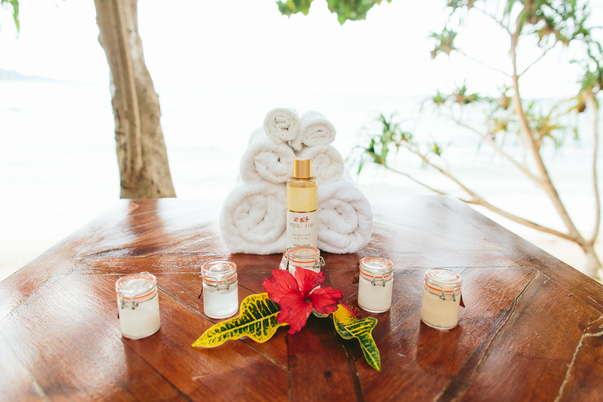 Pure Fiji products for spa treatments at The Remote Resort Fiji Islands