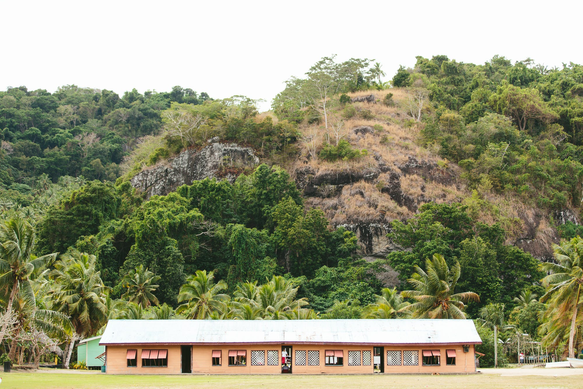 Fijian Village Hall on the weekly village visit from The Remote Resort Fiji Islands