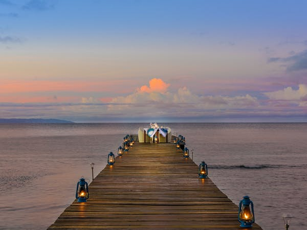 Dining on the Jetty at The Remote Resort Fiji Islands