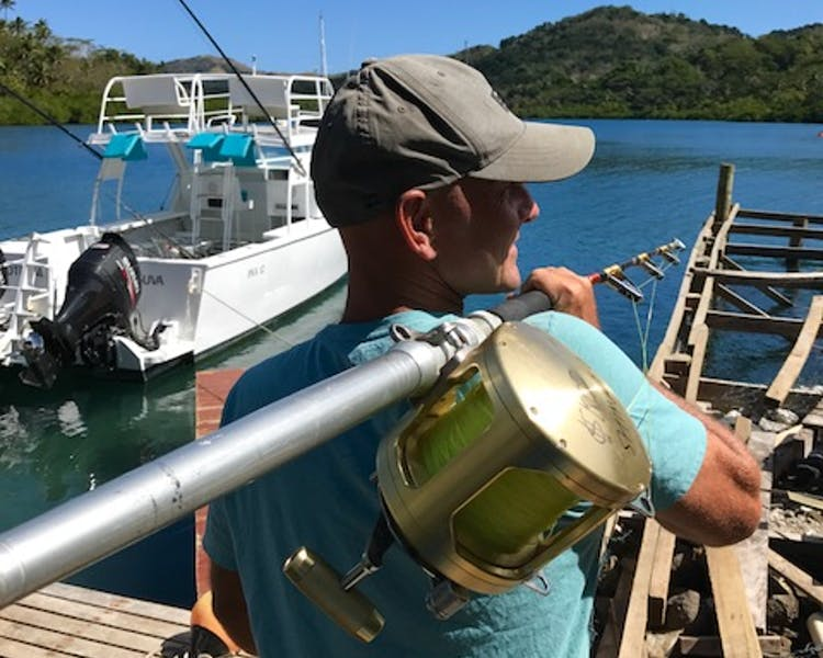 Shimano reel Fiji fishing at The Remote Resort
