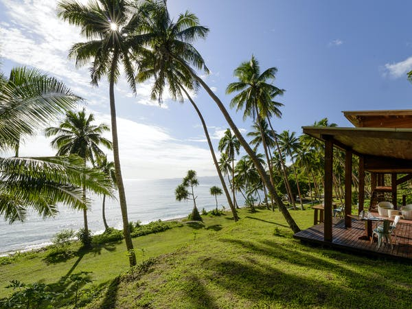View from the Main Pavilion Restaurant and Bar at The Remote Resort Fiji Islands