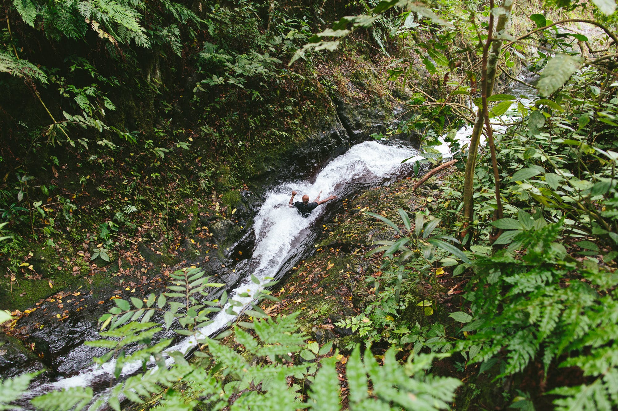 Natural Waterslides on the Taveuni Insider day trip from The Remote Resort Fiji Islands